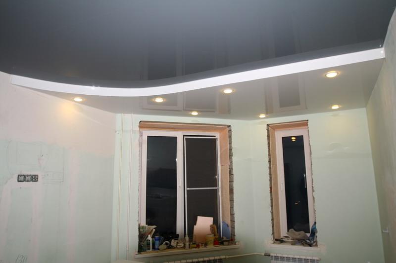 Как сделать серебристый цвет потолка